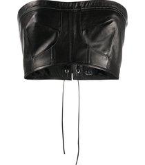 manokhi strapless bustier corset - black