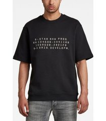 g-star raw men's embroidered text sweater