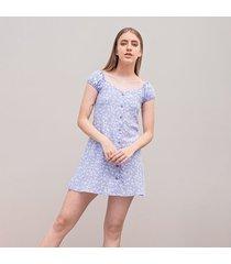 vestido amplio corto manga corta jesu