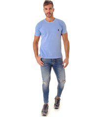camiseta opera rock t-shirt azul claro - azul - masculino - algodã£o - dafiti