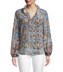 molly printed silk blouse