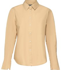 clean shirt with special pleated sleeves overhemd met lange mouwen geel scotch & soda