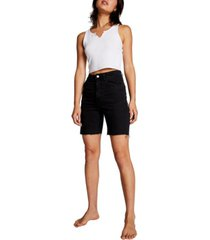 cotton on high stretch denim bermuda shorts