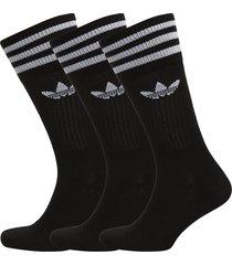 solid crew sock underwear socks regular socks svart adidas originals