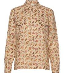nolan overhemd met lange mouwen beige vanessa bruno