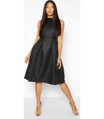 boutique high neck prom dress, black