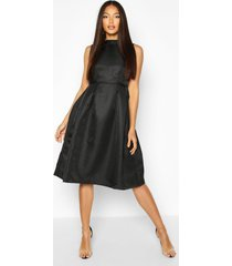 boutique high neck prom dress, black