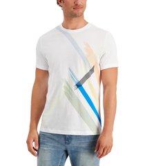 alfani men's stripe graphic t-shirt, created for macy's