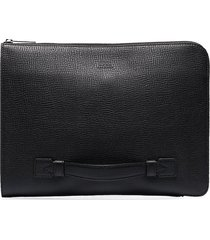 boss square document pouch - black