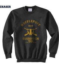 chaser old hufflepuff quidditch team unisex crewneck sweatshirt black