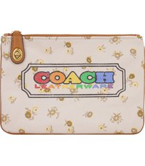 coach printed flat pouch