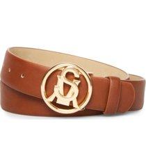 steve madden women's logo-buckle belt