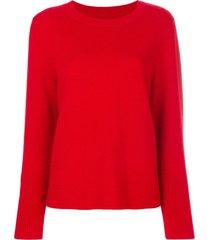 chinti and parker draped hem sweater - red