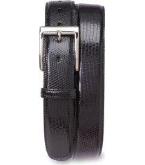 men's big & tall torino lizard leather belt, size 46 - black lizard