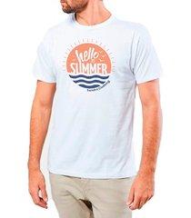 camiseta masculina sandro clothing hello summer branca