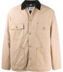 carhartt wip contrasting collar shirt jacket - neutrals