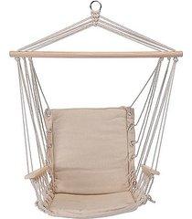 fotel hamakowy siedzisko kremowe