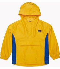tommy hilfiger boy's adaptive popover hooded yachting jacket golden rod - xl