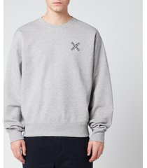 kenzo men's sport crewneck sweatshirt - pearl grey - xxl