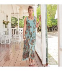sundance catalog women's carolina breeze dress in sage xs