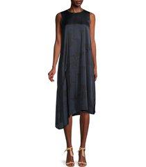 eileen fisher women's asymmetrical silk-blend dress - ink - size s