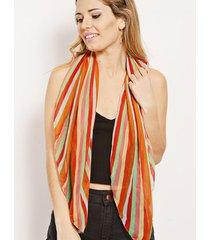 pañuelo naranja nuevas historias rayas multicolor ap121-3