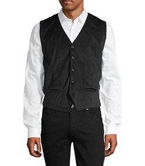 button-front corduroy vest