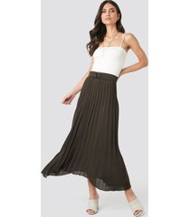 mango angela skirt - brown