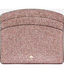 kate spade new york women's spencer glitter card holder - rose gold