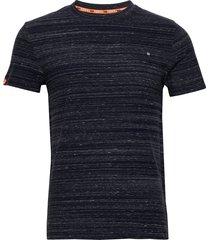 ol vintage embroidery tee t-shirts short-sleeved blå superdry