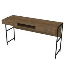 mesa escrivaninha steel quadra 2 gavetas vermont artesano