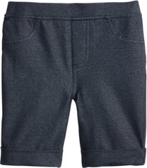 epic threads little girls denim-knit bermuda shorts, created for macy's