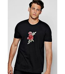 floral embroidered t shirt