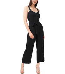 riley & rae belted button-top jumpsuit, created for macy's