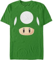 nintendo men's super mario 1 up mushroom costume short sleeve t-shirt