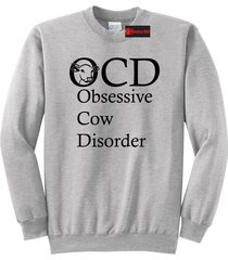 ocd obsessive cow disorder crewneck sweatshirt