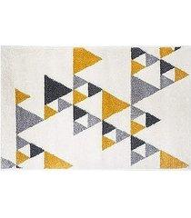 dywan dekoracyjny triangles yellow