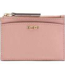 women's tumi belden leather zip card case -