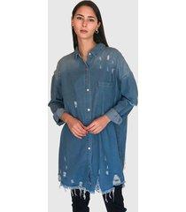 blusón missguided azul - calce oversize