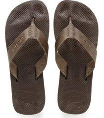 sandalias chanclas havaianas para hombre marrón urban special