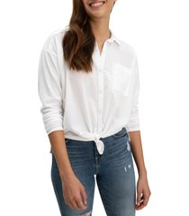 women's splendid button-up shirt, size small - white