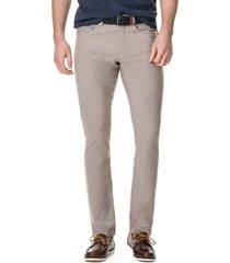 men's big & tall rodd & gunn motion straight leg jeans, size 30l - beige