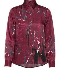 d2. confetti viscose shirt blouse lange mouwen rood gant