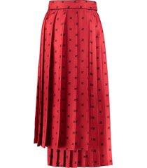 fendi pleated asymmetrical skirt