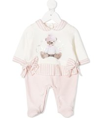 lapin house teddy bear print pajamas - pink
