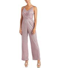 nightway metallic wrap jumpsuit