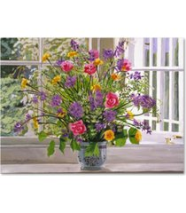 "david lloyd glover 'windowsill bouquet' canvas art - 35"" x 47"""