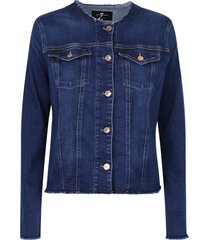 7 for all mankind button fastening jacket