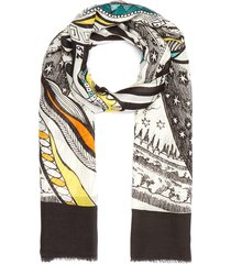 'fox' cashmere blend scarf