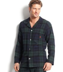 polo ralph lauren men's plaid flannel pajama top